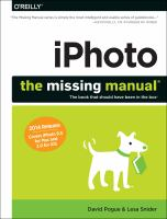 IPhoto the missing manual the book that should have been in the box