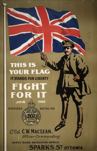 This is your flag recruitment poster 1914-18