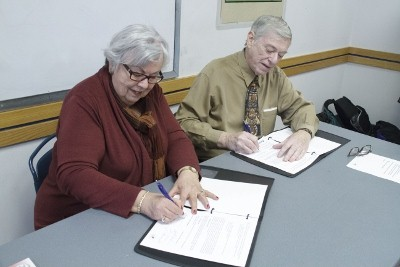 NYHS and TPL representatives sign the donation agreement Feb. 6, 2015