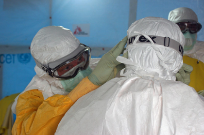 Preparing to enter Ebola treatment unit