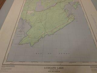 Ludgate Lake NB Topo map