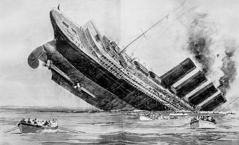Sinking of the Lusitania London Illus News