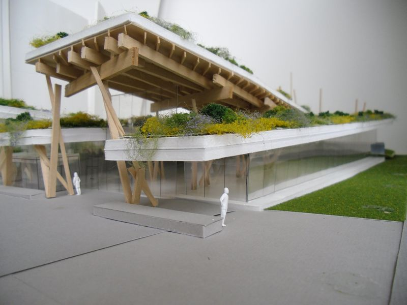 Scarborough Civic Centre Branch Toronto Public Library green roof and landscape design model