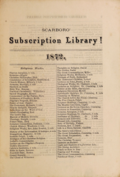 Scarborough Subscription Library catalogue 1872