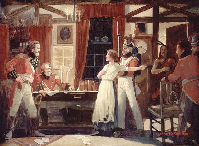 Laura_Secord_warns_Fitzgibbons,_1813