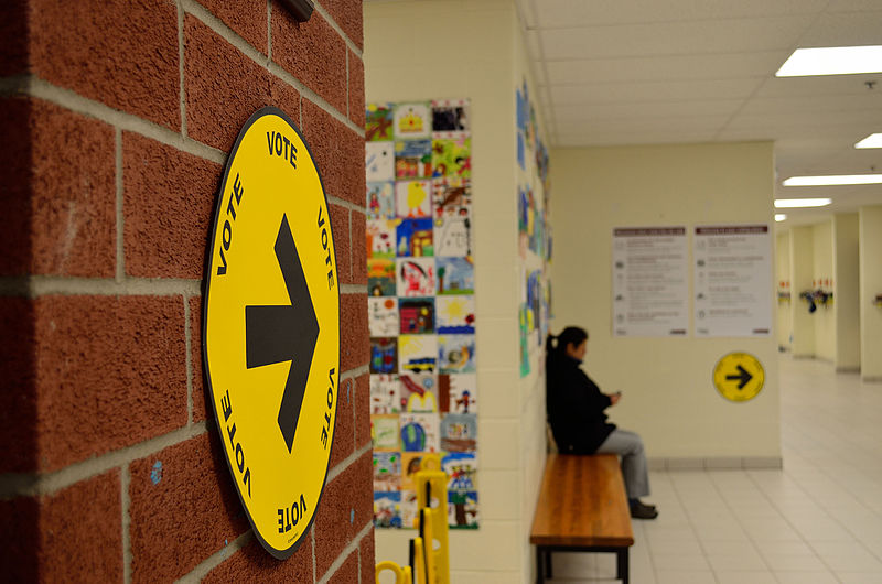 Canadian Federal Election 2015 Polling Station
