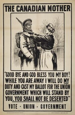 Canadian Mother Election Poster 1917