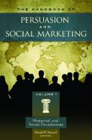 Handbook of Persuasion and Social Marketing