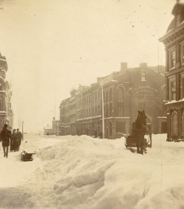 1870s Yonge Street looking south of King St near Wellington