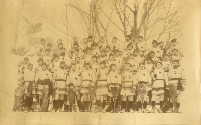 1885 Brockville snow shoe club February 20th, 1885 Murray & Son photographer