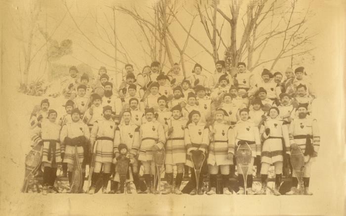 1885 Brockville snow shoe club February 20th, 1885 Murray & Son photographer