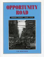 Opportunity road Yonge Street, 1860 to 1939