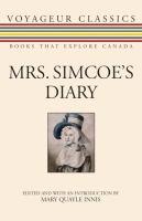 Mrs Simcoe's diary