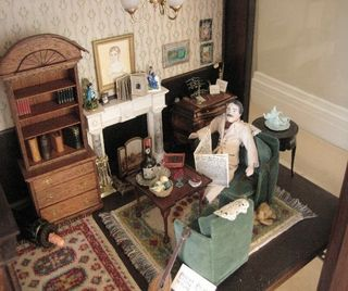 Dollhouse detail, the sitting room