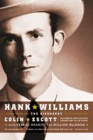 Hank Williams Book Cover