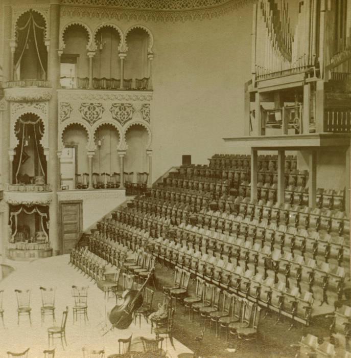 Massey Hall, Shuter St., s.w. corner Victoria St.; INTERIOR by B.W. Kilburn