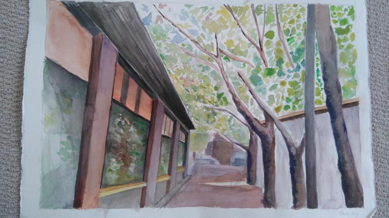 Olivia painting