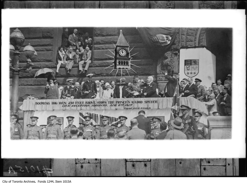 Edward Prince of Wales and Prince George at Toronto City Hall August 6 1927