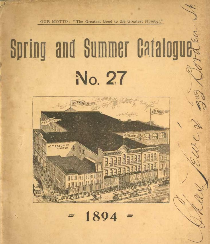Spring and Summer Catalogue No. 27 1894