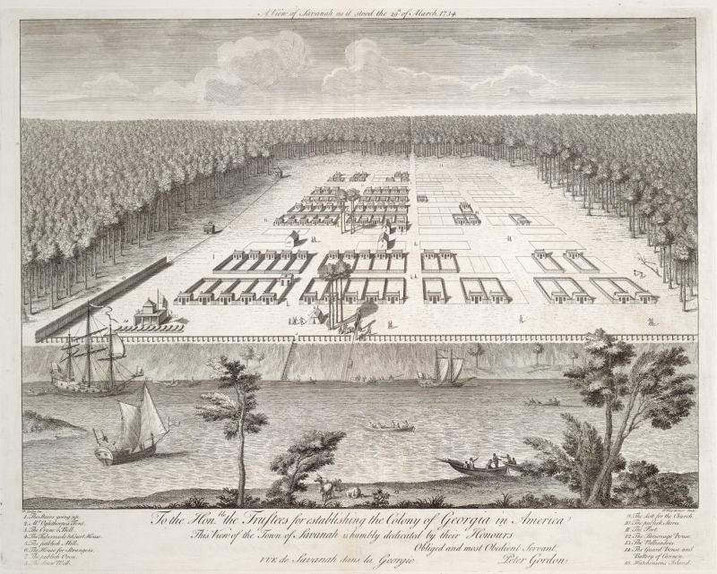 A view of Savanah as it stood the 29th of March 1734