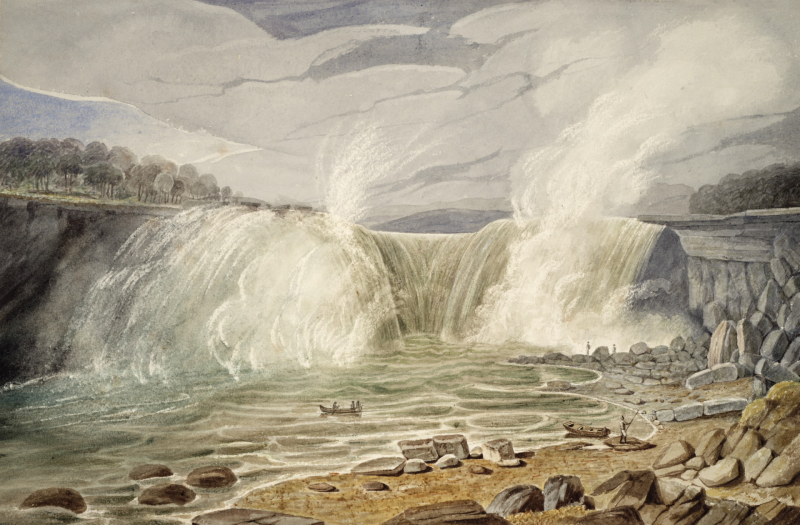 Horseshoe Falls of Niagara, from the Canadian Side in 1819 by John Elliott Wolford