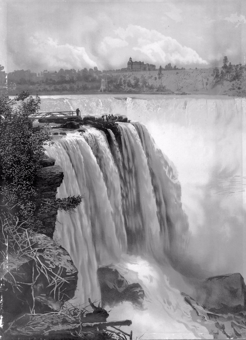 The Horseshoe Fall from Goat Island captured by an unknown photographer in 1885