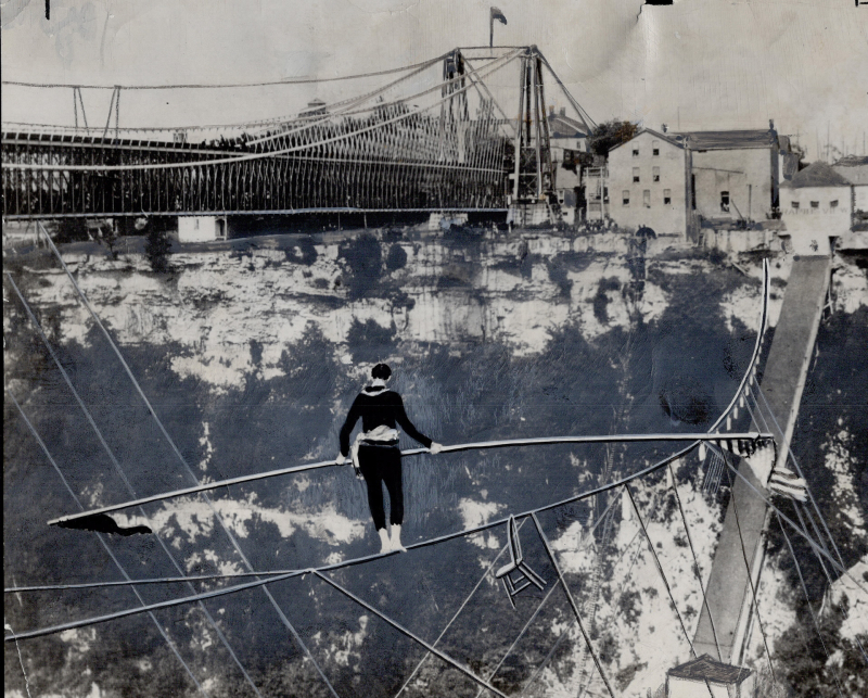 Charles Blondin 1946 tightrope walk