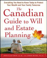 Canadian Guide to Will and Estate Planning
