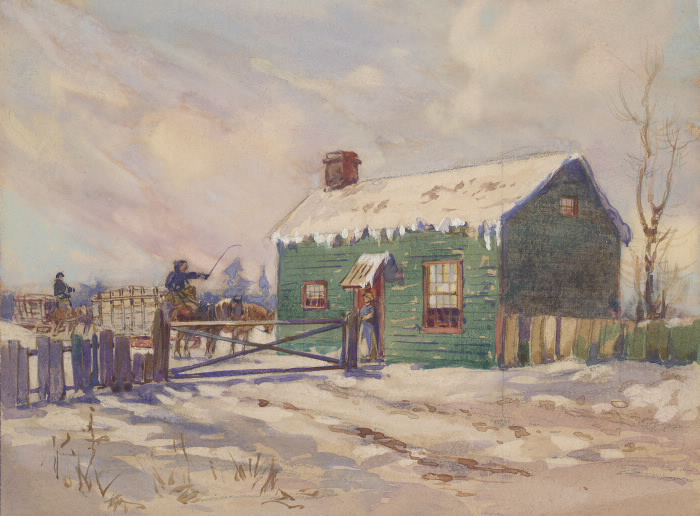 Toll Gate, Dundas St. W., n. side, between Sheridan & Brock Aves. (Brockton toll gate) John Wesley Cotton circa 185- pictures-r-5832