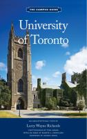 University of Toronto the campus guide an architectural tour