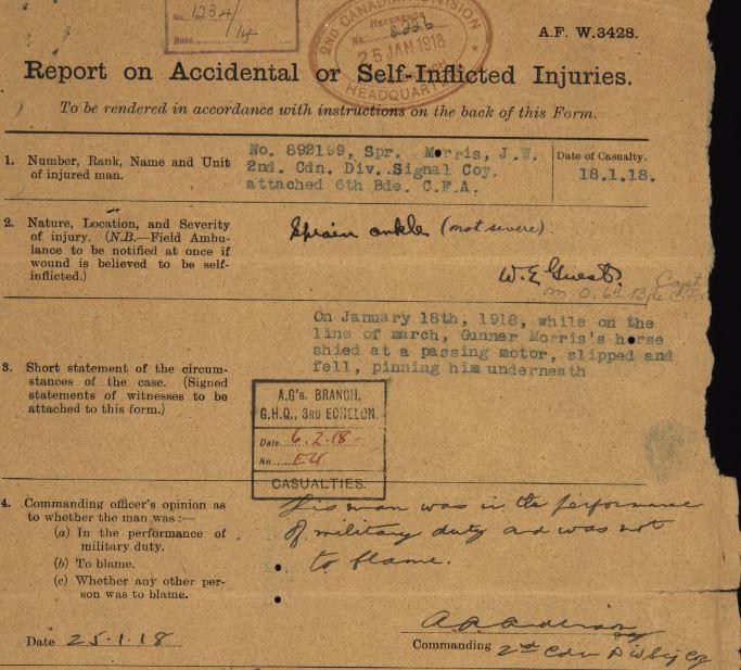 Jack accident 1918