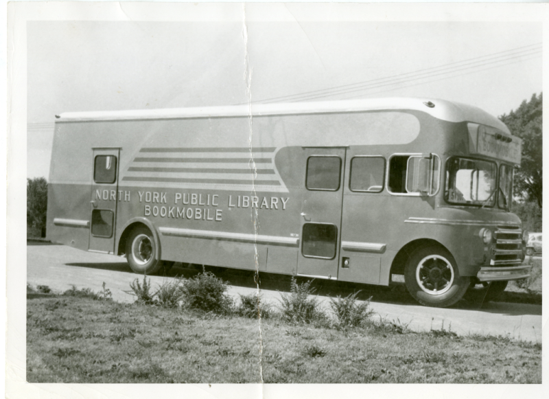 One of the first North York Public Library bookmobiles 1954