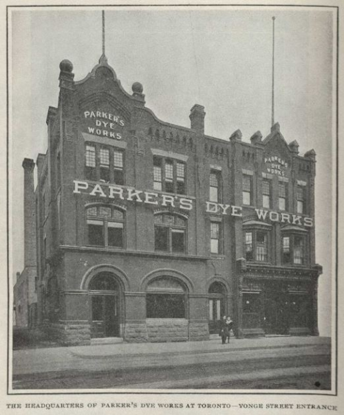 Parker's Dye Works Yonge Street entrance 1908 Canadian magazine