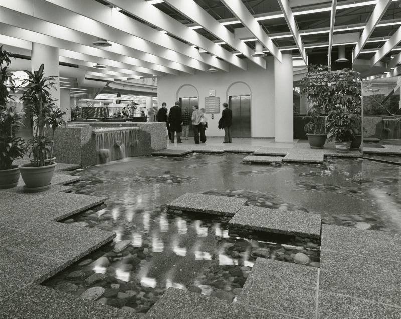 TRL foyer waterfall pool