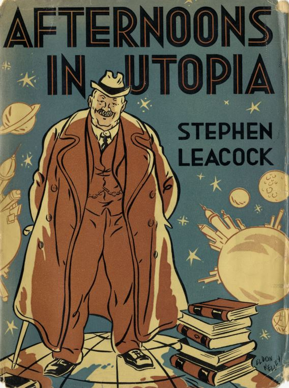 Illustrated book cover of Afternoon in Utopia