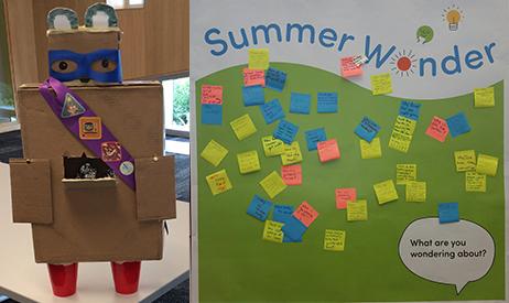 Summer wonder robot and idea wall