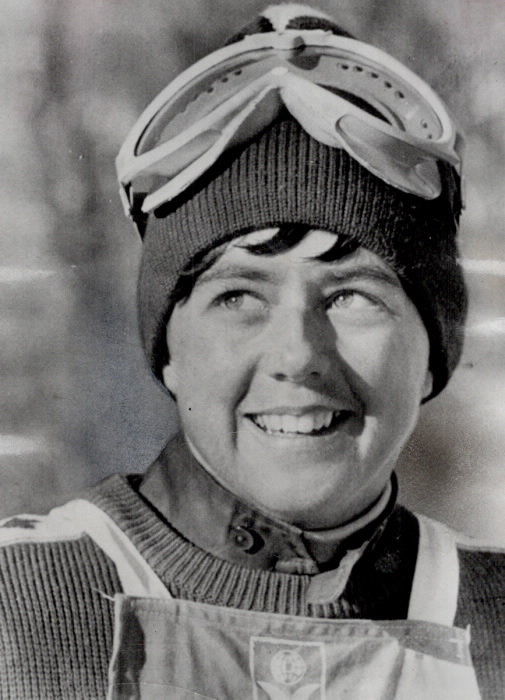 Portrait of downhill skier Nancy Greene