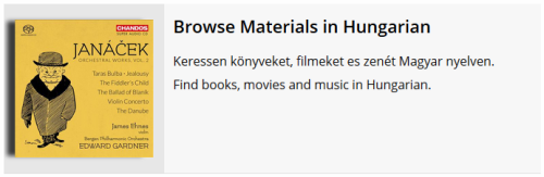 Browse Materials in Hungarian