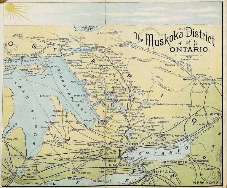 Map of Muskoka
