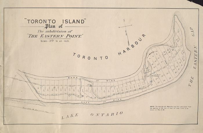 Toronto Island. Plan of the subdivision of The Eastern Point maps-r-49