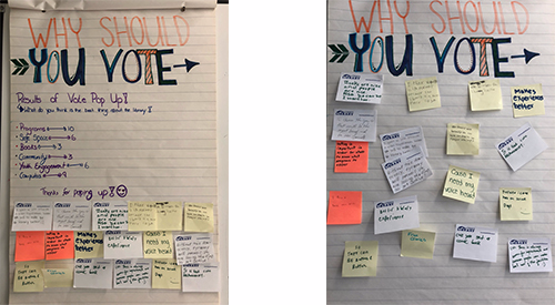 Vote Pop-Up post-it boards