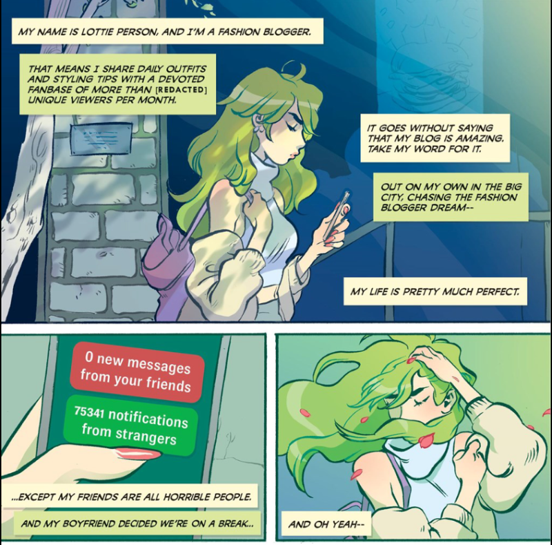 Panels from Snotgirl