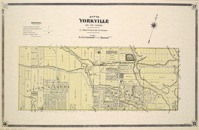 Map of Yorkville and its vicinity 1878