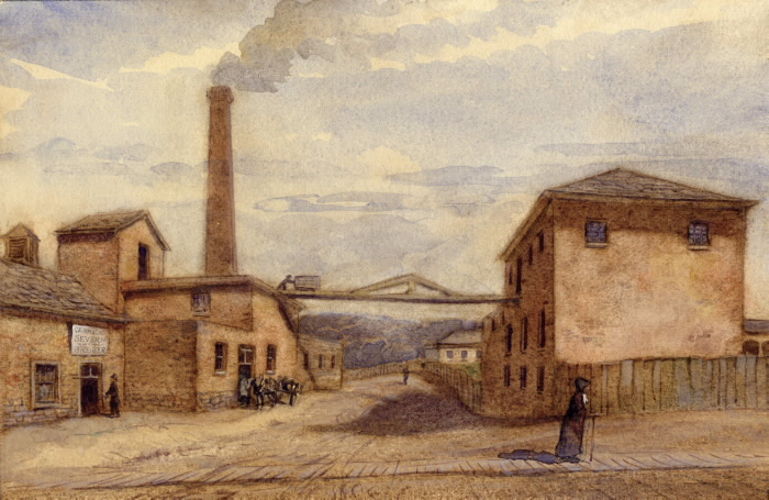 Illustration of John Severn's Brewery