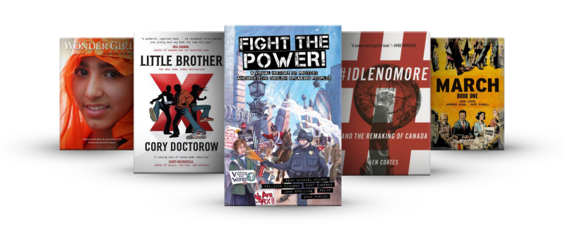 Book covers from the Fight the Power booklist