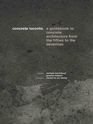 Book cover map of Toronto stylized with concrete effect