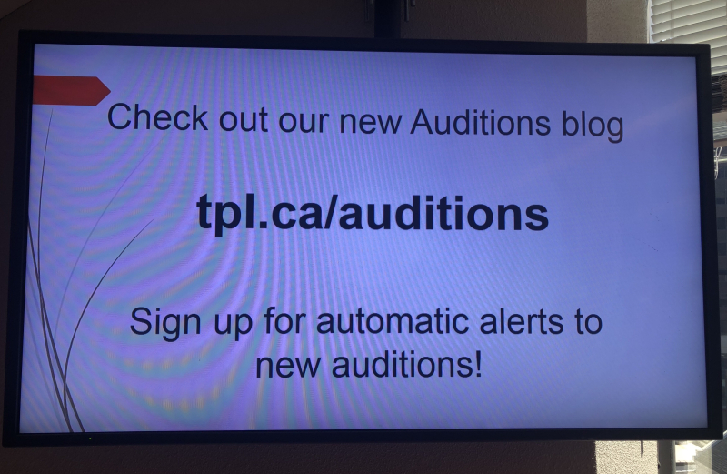 Audition listing service