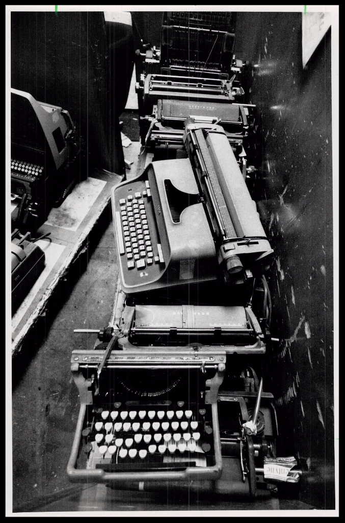 1988 Image of discarded typewriters from the Toronto Star Archives