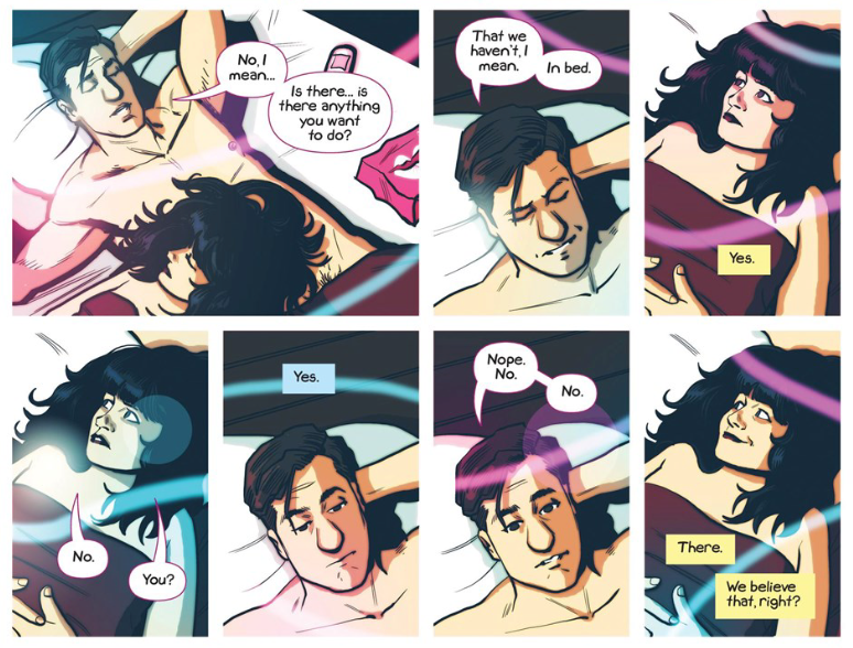 Panels from Sex Criminals