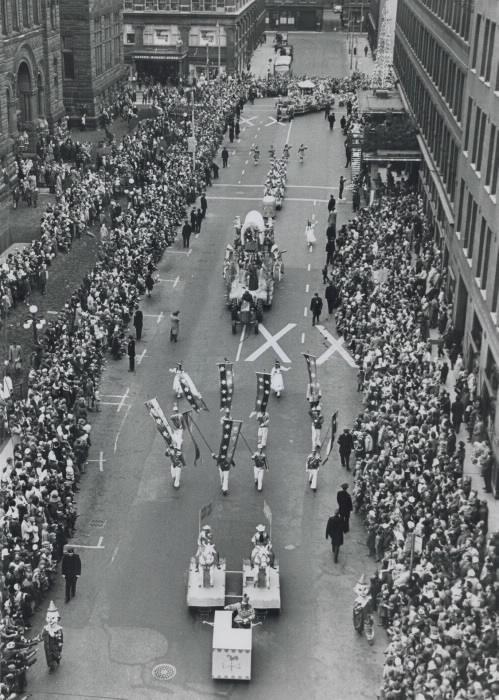Santa Claus Parade Bird's Eye View 1962